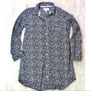 Victoria's Secret Leopard Flannel Sleep Shirt XS